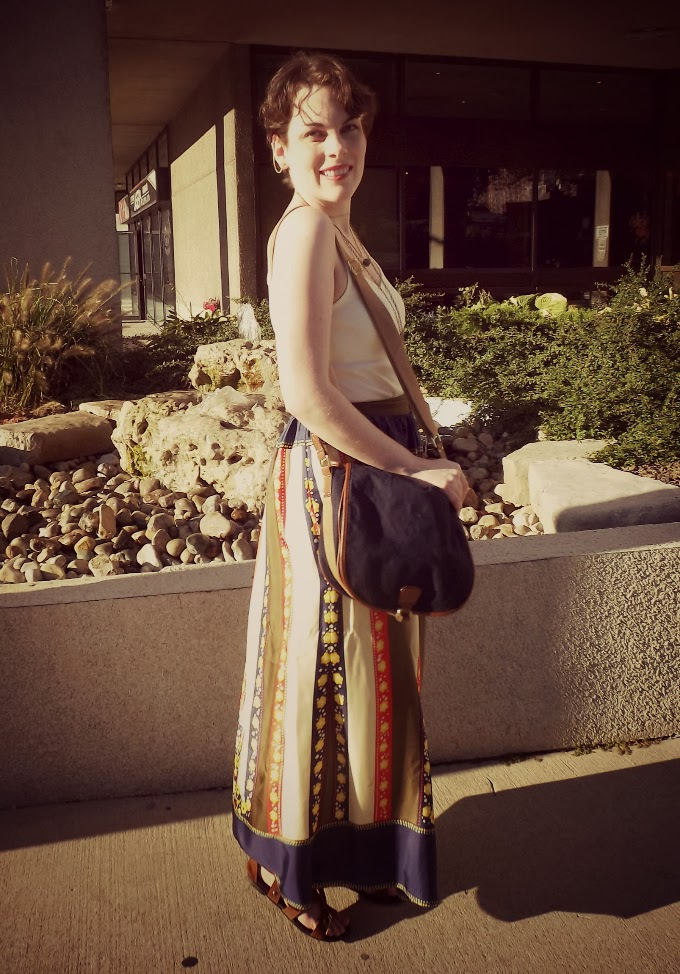 Lauren Moffatt, Lauren Moffatt skirt, Modcloth maxi skirt, tantalizing tansies skirt, long summery skirt, long printed skirt, bohemian skirt, hippie skirt, hippie fashion, silk maxi skirt, trip to tansy-nia skirt, windsor bloggers, Suzanne Amlin, A Coin For the Well, world fashion