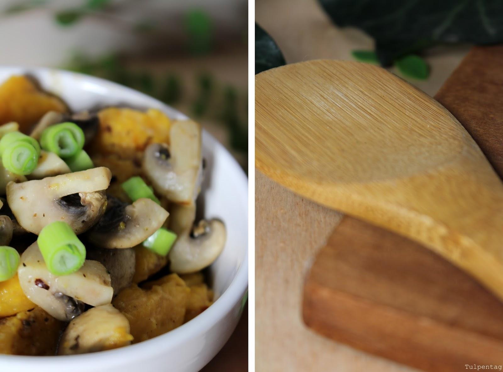 gnocchi selber machen k rbisgnocchi mit fr hlingszwiebeln und pilzen. Black Bedroom Furniture Sets. Home Design Ideas