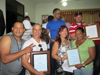 Miembros y colaboradores de la Liga Manzanillera declarados hijos meritorios por el Ayuntamiento