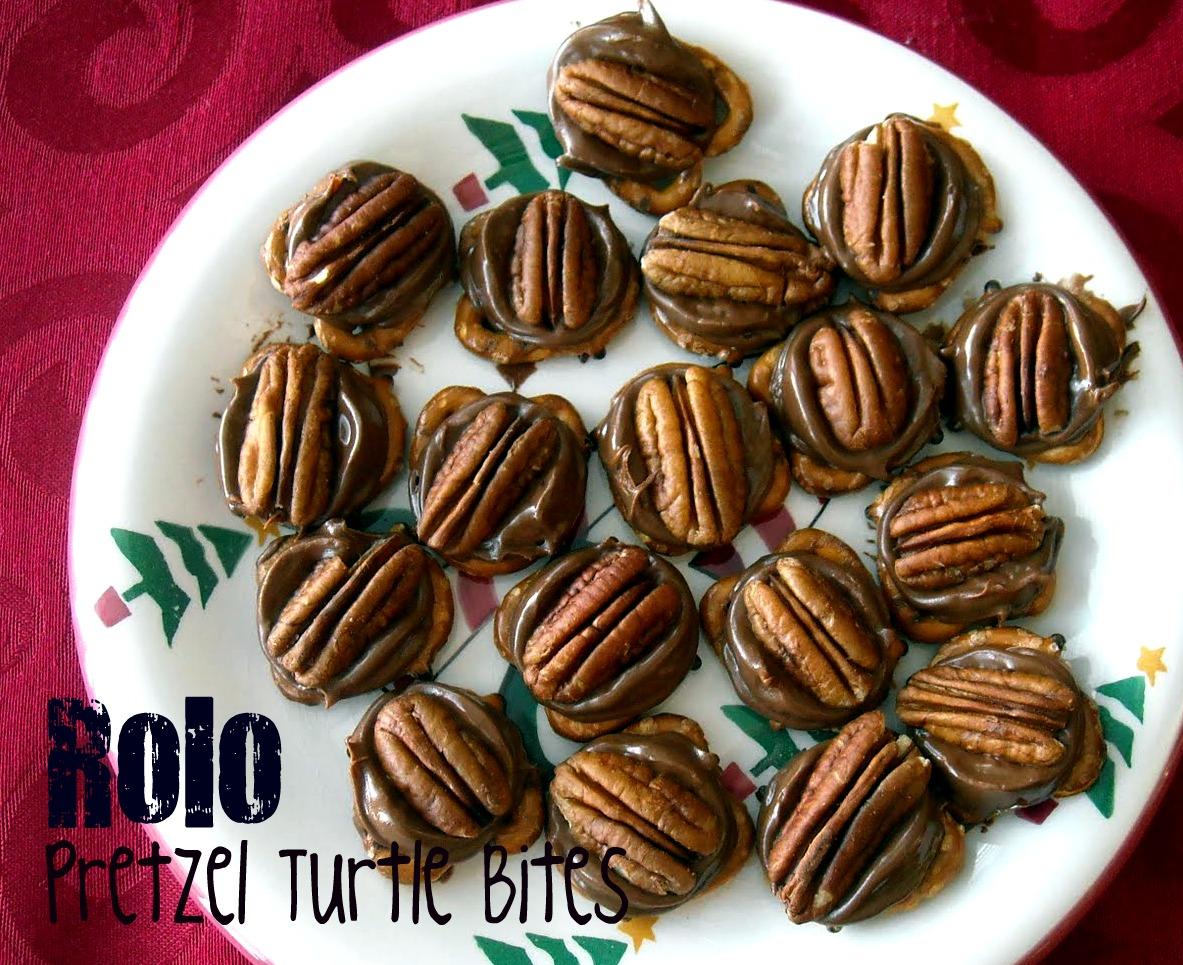 Rolo Pretzel Turtle Bites | Six Sisters' Stuff