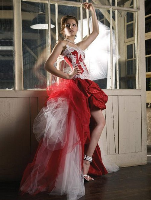 Short Red Wedding Dresses 2013