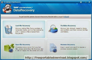 Wondershare Data Recovery Windows data recovery software to recover lost data