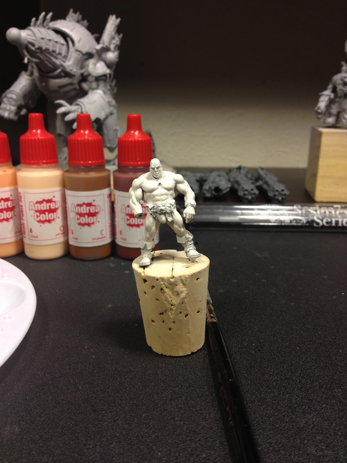 Painting miniatures color master primer - I Begin By Priming The Miniature White This Was Done Using Citadel Skull White Primer From Games Workshop Now This Guy Had Been Previously Primed And Was