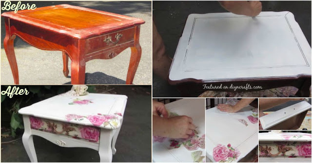 DIY Decoupage Furniture with Napkins