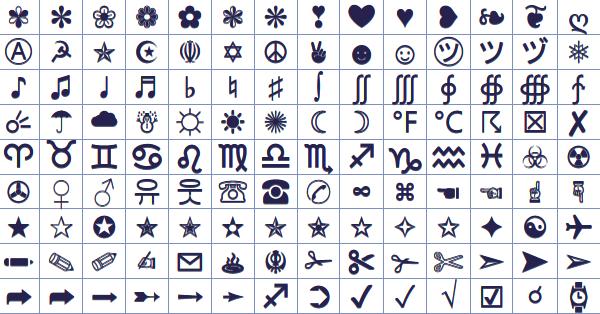 Infos Web Liste Des Symboles Facebook