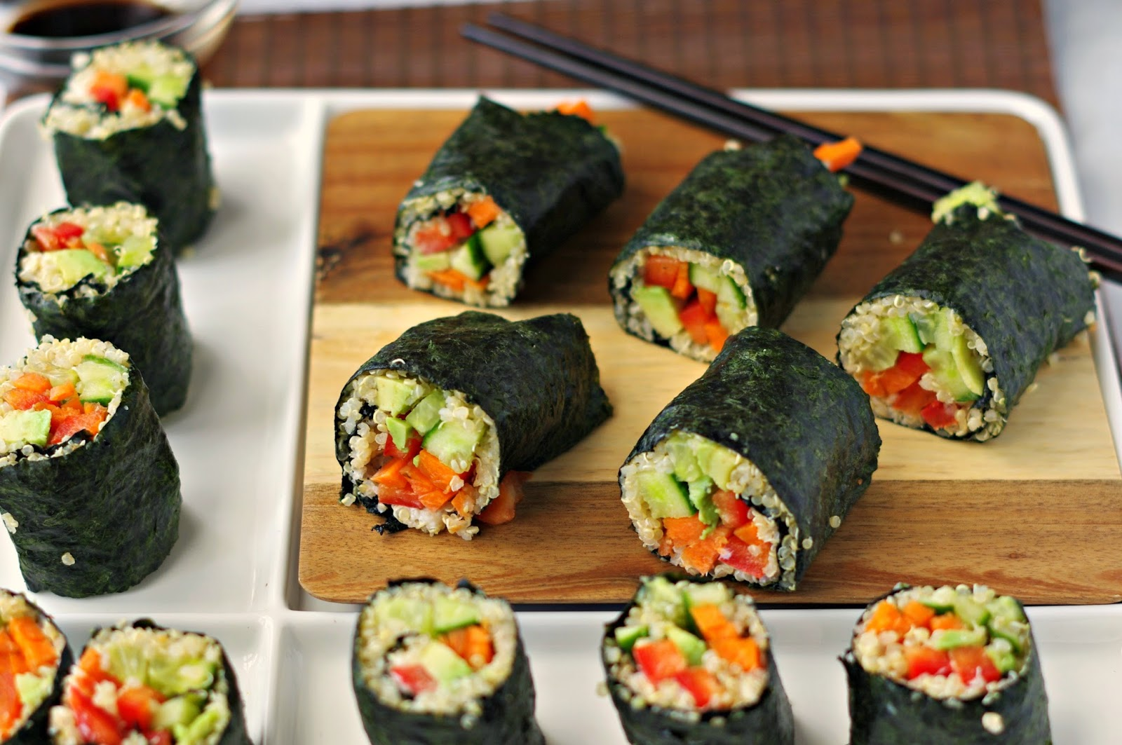 Vegetarian Nori Rolls Recipe — Dishmaps