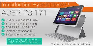 Spesifikasi Harga Acer Aspire P3-171