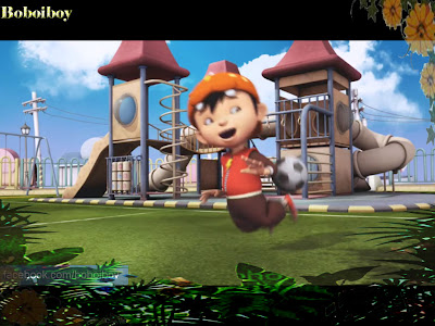 BoBoiBoy Playing Football