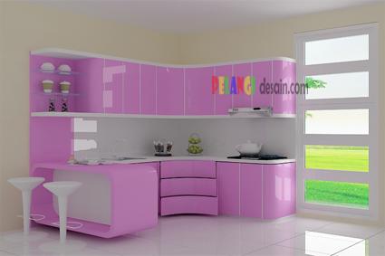 Rumah Idaman Man Dapur Warna Pink