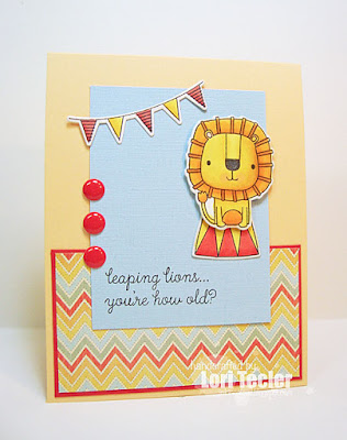 Leaping Lions Birthday Card-designed by Lori Tecler/Inking Aloud-stamps and dies from Reverse Confetti