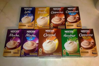 Coffee, Mocha, Caramel, Latte, Cappuccino, Vanilla, Nescafe