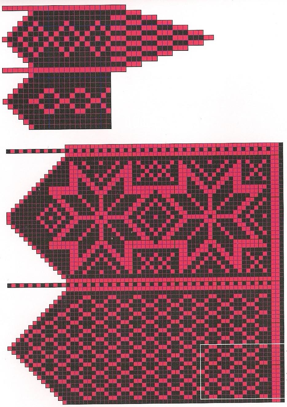 Коллекция орнаментов для вязания джурабов