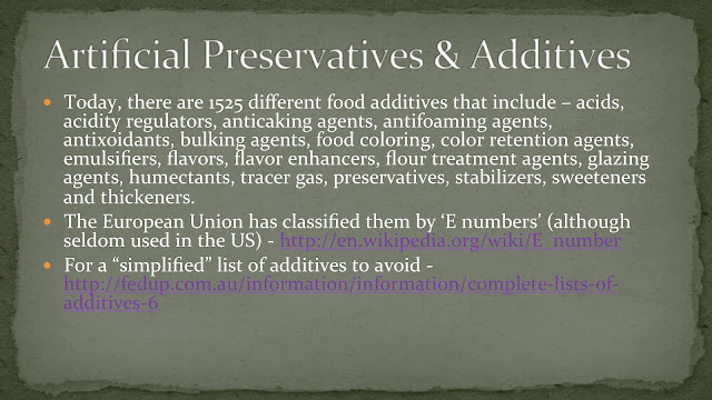 role of addictives in preservation of Preservative: preservative,, in foods, any of numerous chemical additives used to prevent or retard spoilage caused by chemical changes, eg, oxidation or the growth of mold.