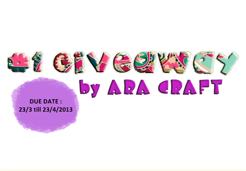 #1 GIVEAWAY by ARA CRAFT