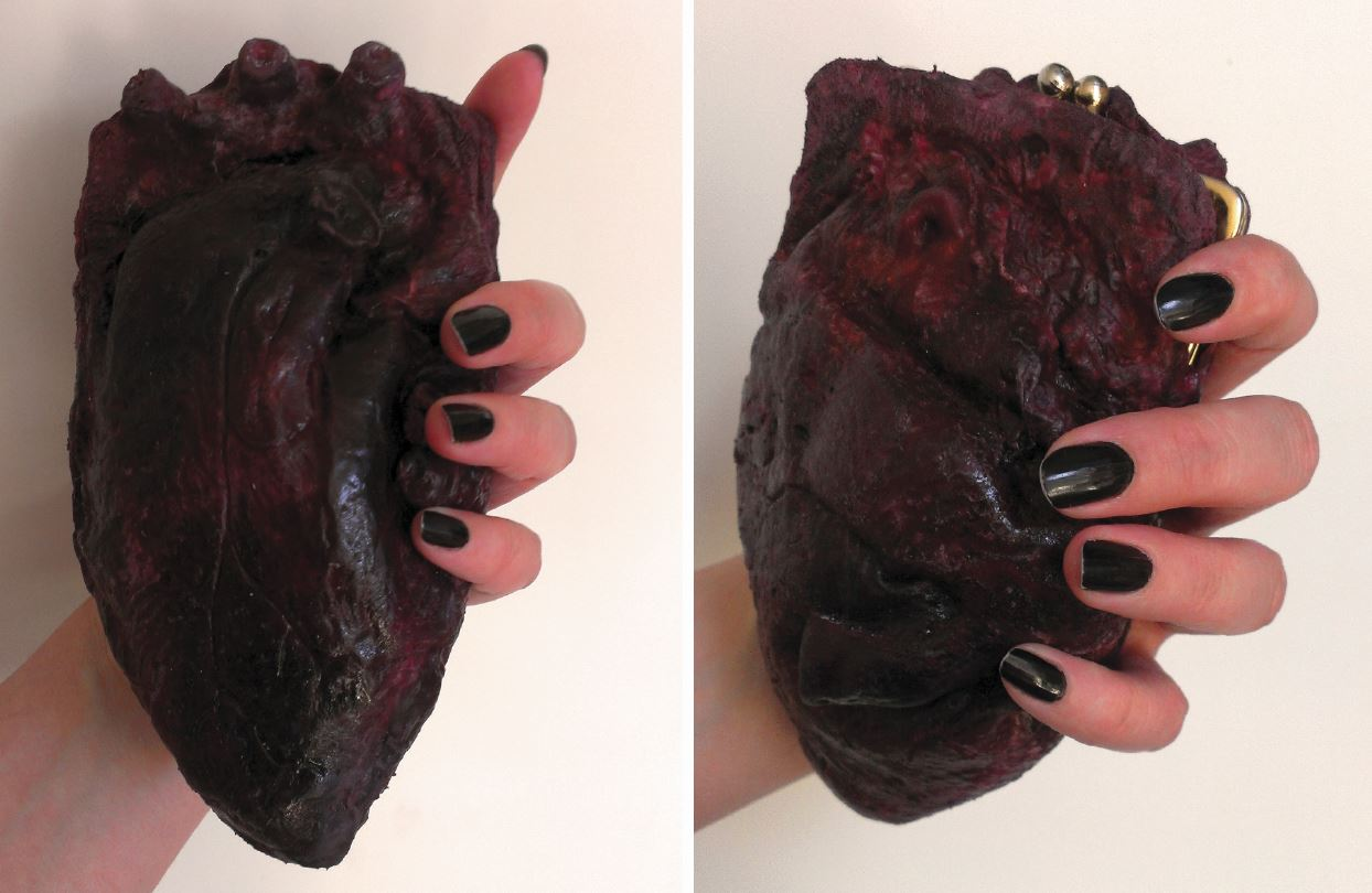 chrix design human heart clutch purse how to make