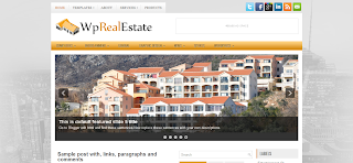 WpRealEstate Blogger Template is a 3 Column Wordpress To Blogger Converted Template