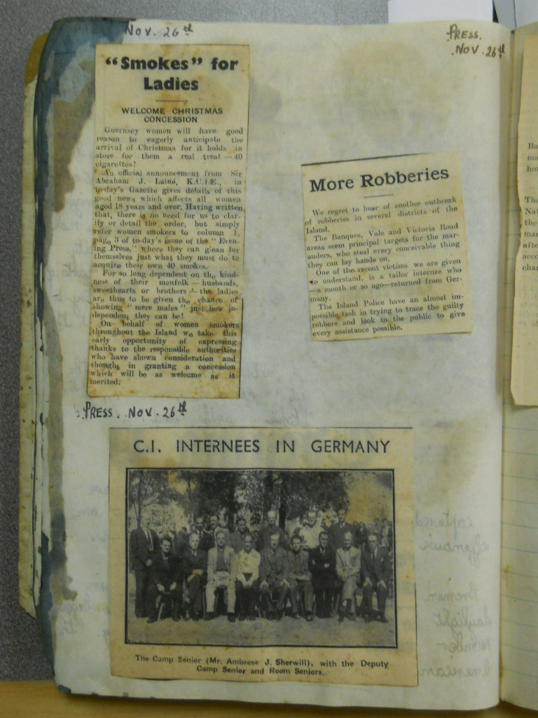How to scrapbook newspaper clippings - In Addition To Military Technology And Bombing Raids The Scrapbook Also Gives Insight Into The Day To Day Wartime Experiences Of Guernsey Residents