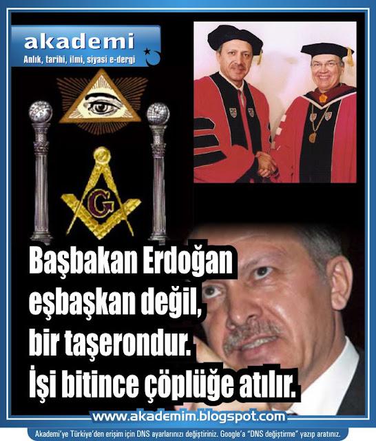 Başbakan Erdoğan eşbaşkan değil, bir taşerondur. İşi bitince çöplüğe atılır