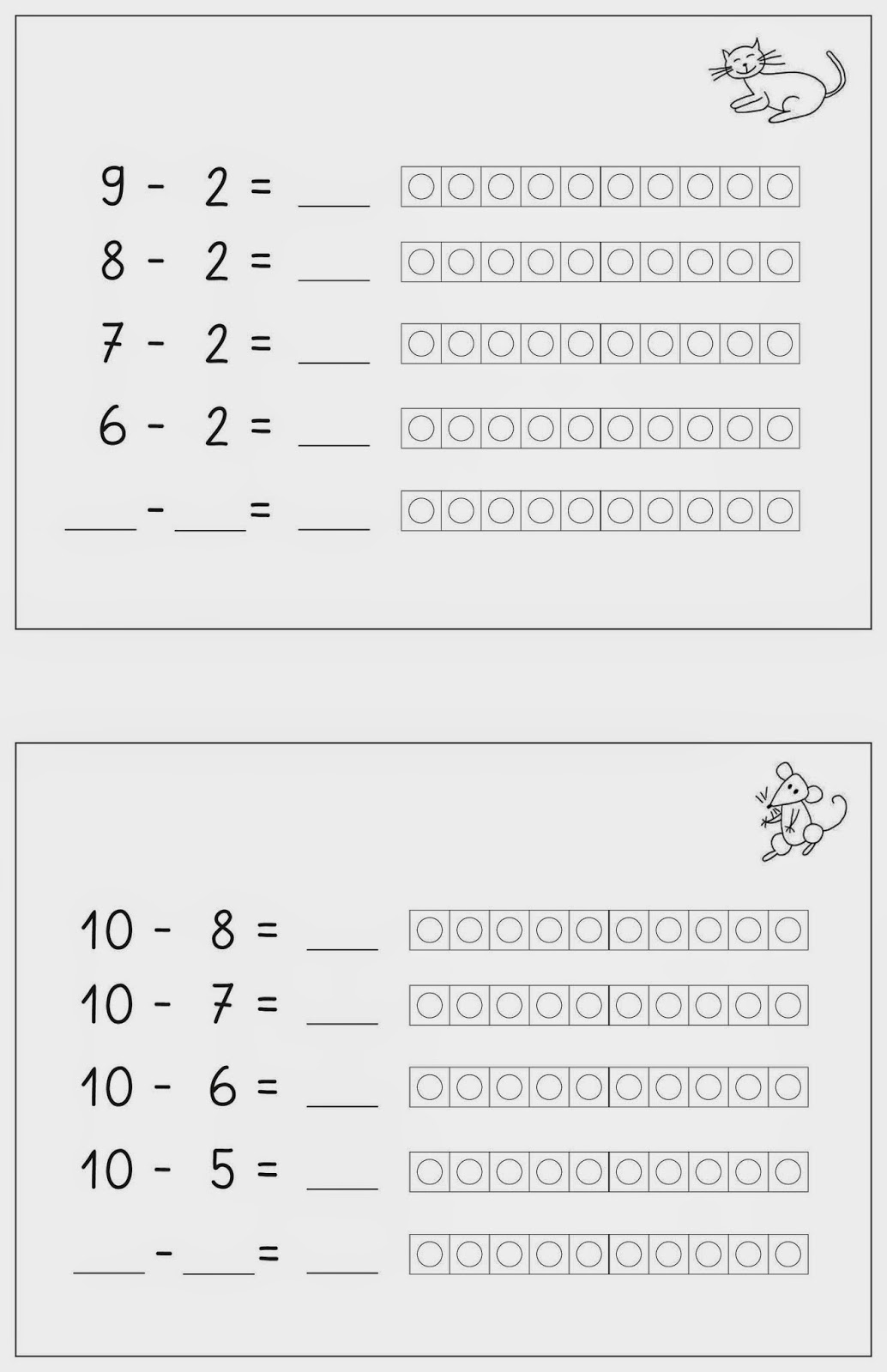 Umkehraufgaben 2 klasse