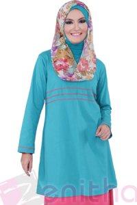 Zenitha Blus Zn118 - Toska (Toko Jilbab dan Busana Muslimah Terbaru)