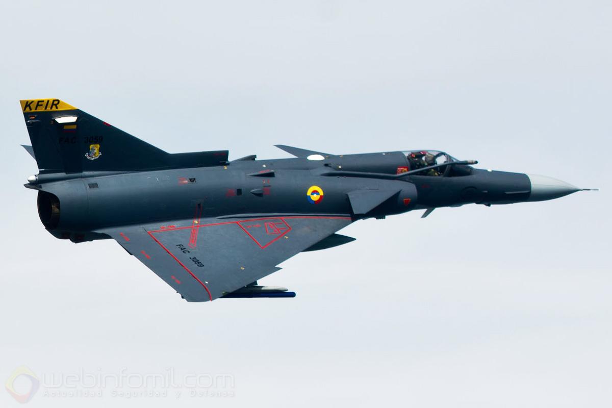 Los Kfir de la aviación militar colombiana se encuentran asignados al Comando Aéreo de Combate Nº1 (CACOM 1).