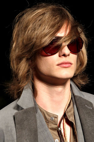 John Varvatos Men hairstyle summer 2012