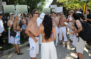 National Go Topless Protest Day http://cascarjoe.blogspot.com/2012/08/raelian-movement-protest-national-go.html