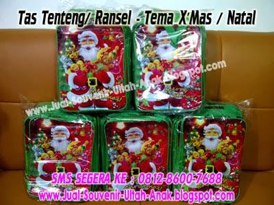 tas tenteng atau ransel tema natal christmas paket tas tenteng