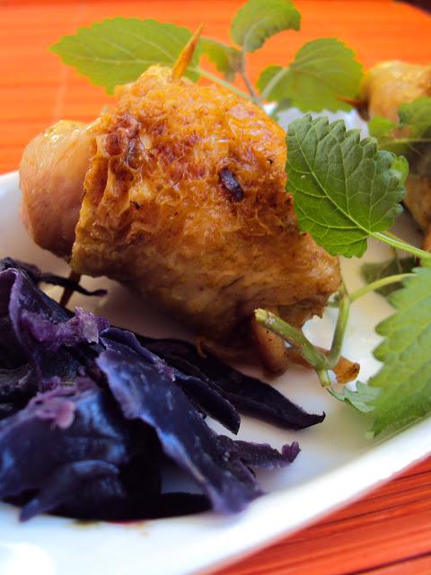 Kurczak nadziewany kapustą z jabłkiem
