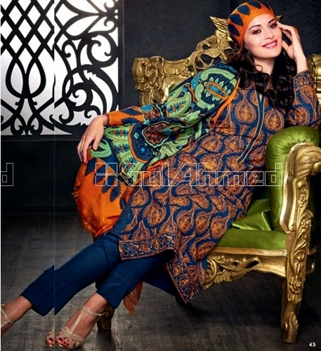 GulAhmed Pashmina Woolen Collection 2014-15