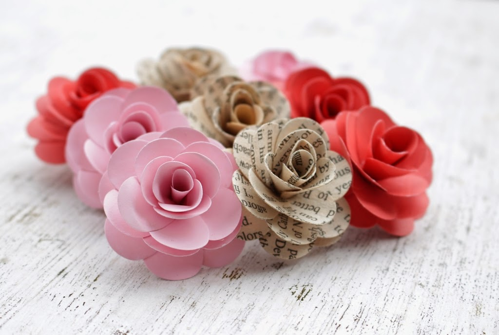 Diy how to make paper roses hair barrette reduce reuse recycle diy how to make paper roses hair barrette mightylinksfo