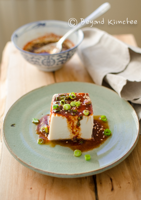 [Korean Recipes] Steamed Soft Tofu with Soy Chili Sauce ...
