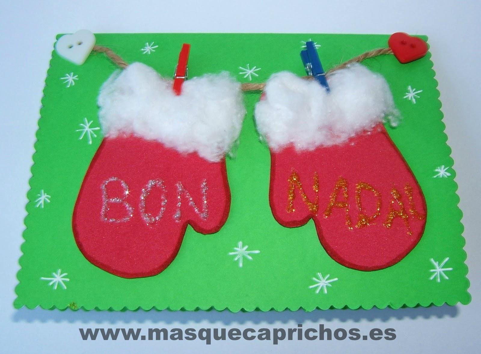 Postales de navidad de goma tarjeta navide 241 a con - Tarjeta de navidad manualidades ...