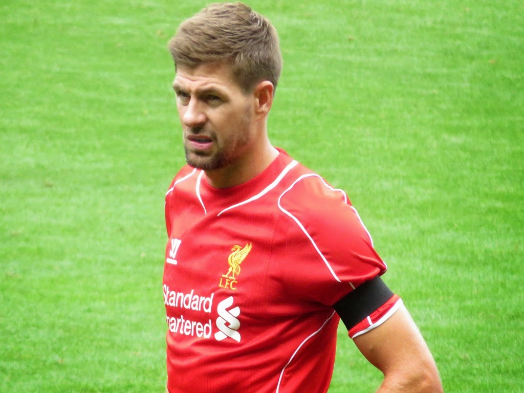 "Footballer Steven Gerrard announced his departure from ""Liverpool"""
