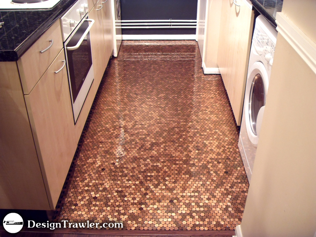 Penny Tile Kitchen Floor Similiar Kitchen Floor Done In Pennies Keywords