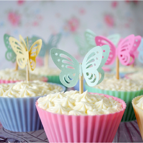 Butterfly cupcake toppers by Torie Jayne
