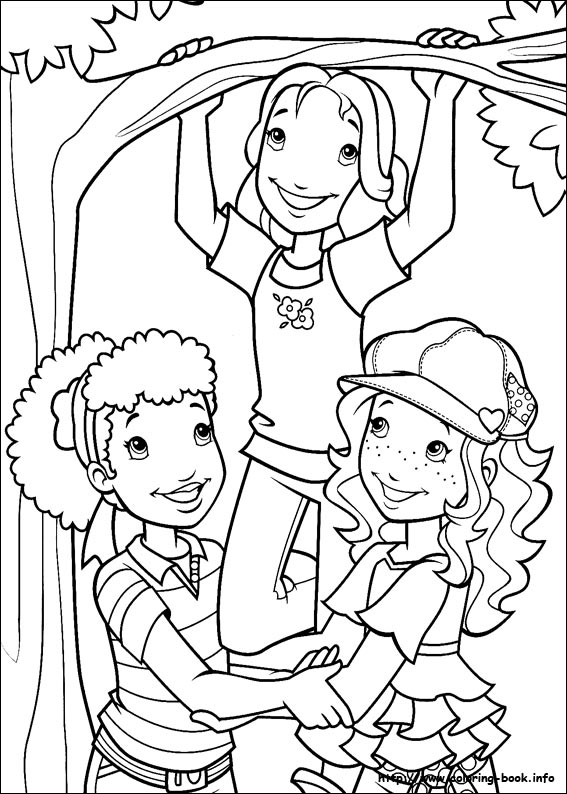 holly hobbie coloring pages - photo#17