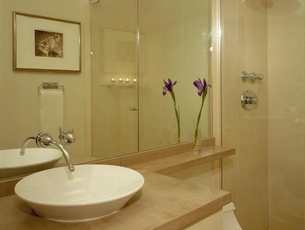 Construindo minha casa clean ambientes com bege super aconchegantes - Bathroom remodels for small spaces photos ...