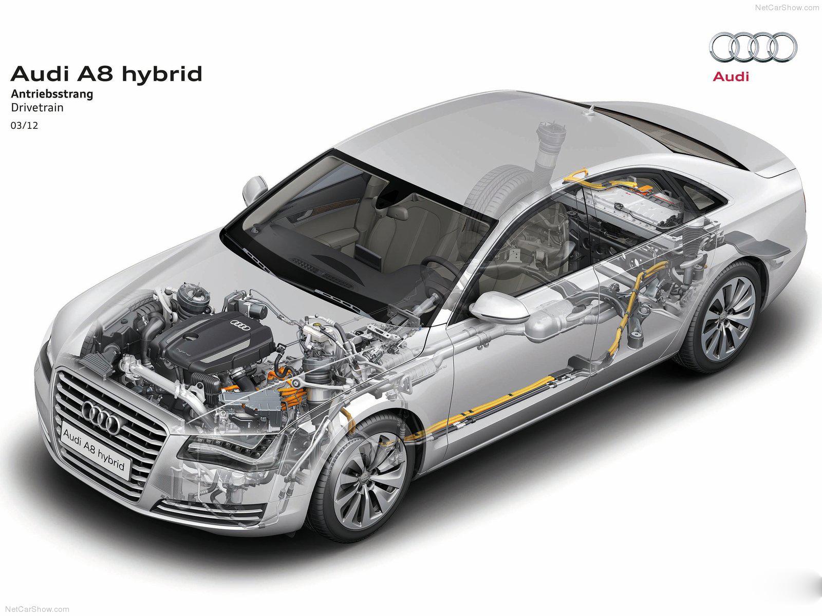 automotive database audi a8 drivetrain front view