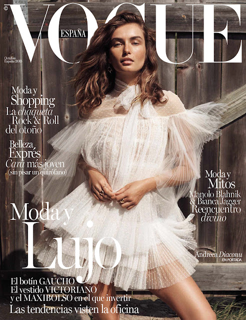 Fashion Model @ Andreea Diaconu by Benny Horne for Vogue Spain, October 2015