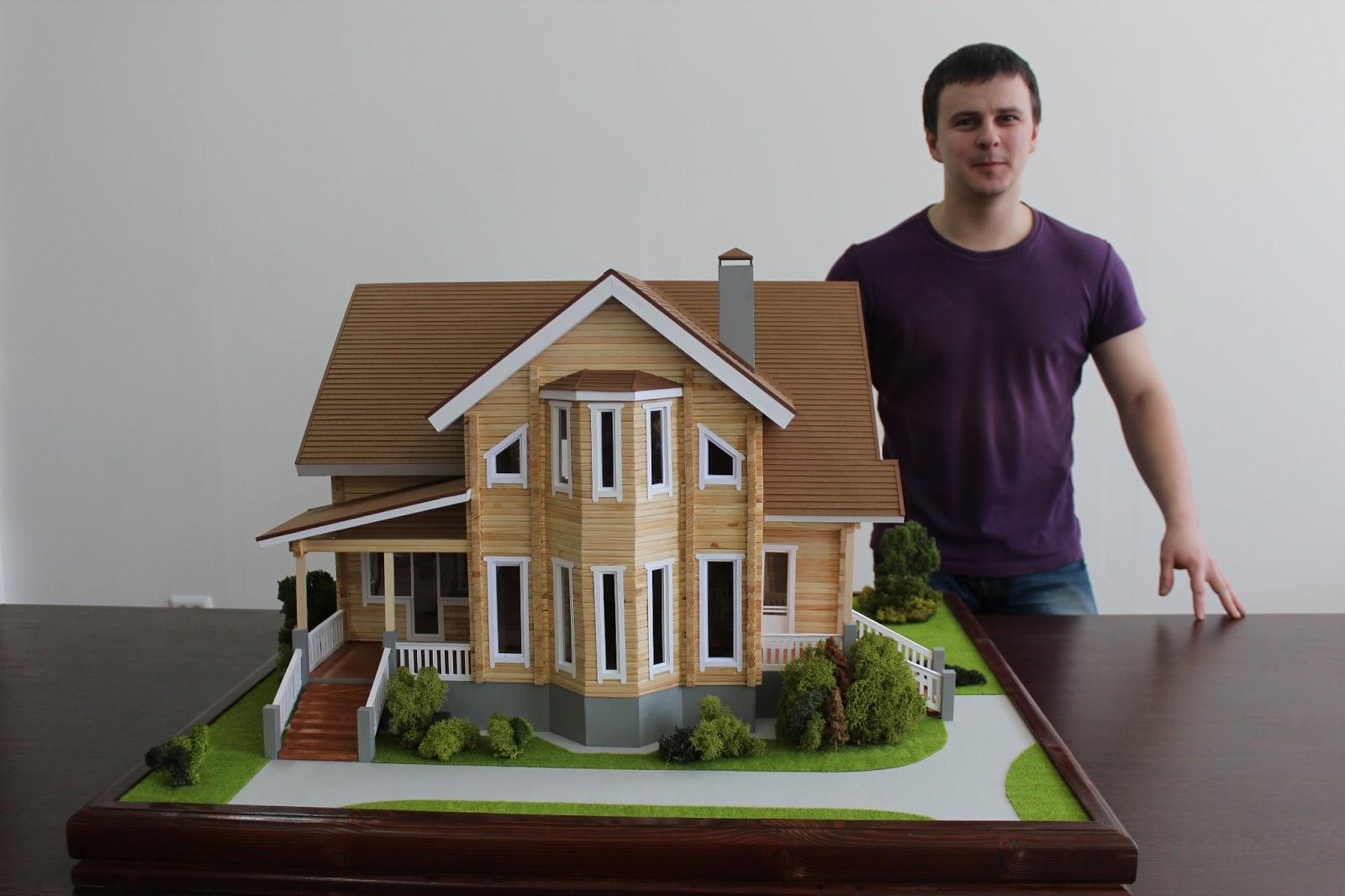 Макет деревянного дома своими руками 100
