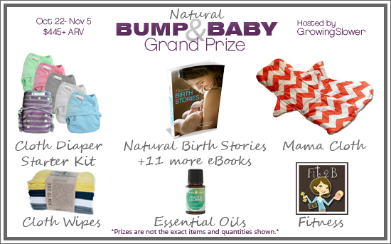 Natural Bump & Baby Giveaway Grand Prize $385+ ARV