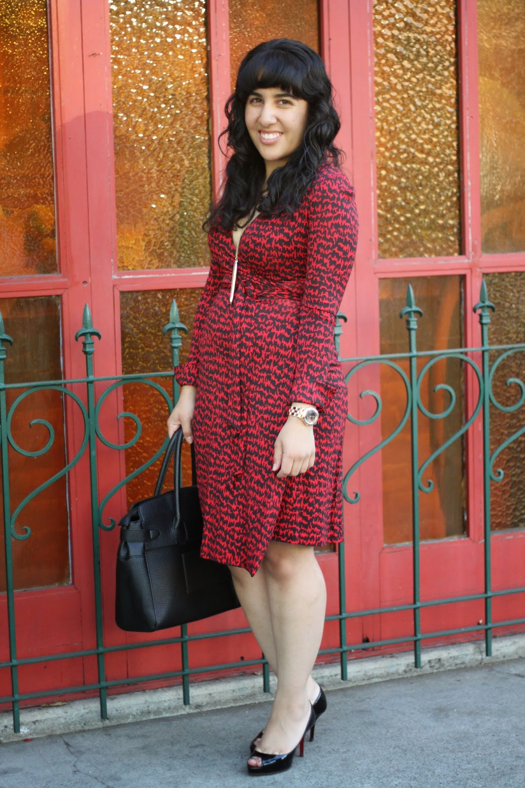 Red DVF Wrap Dress
