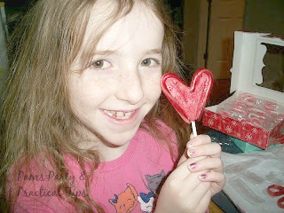 Valentine's Day Heart Pops make from candy canes