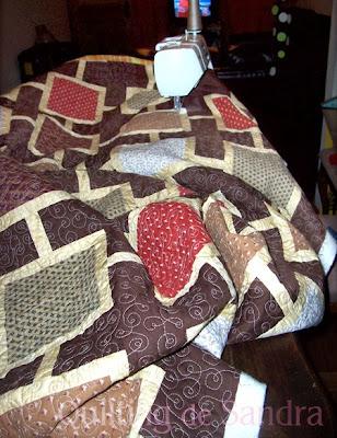 """Acolchando el quilt de cama """"Capuccino"""""""