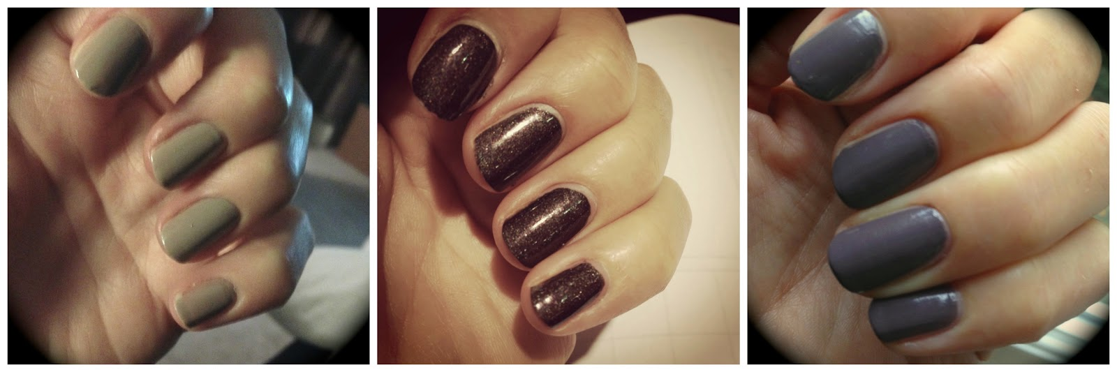 OPI My Private Jet Revlon Mischievous Revlon Smoky Canvas