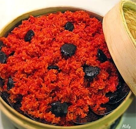 Cách nấu xôi gấc truyền thống đỏ, dẻo thơm, bóng đẹp2