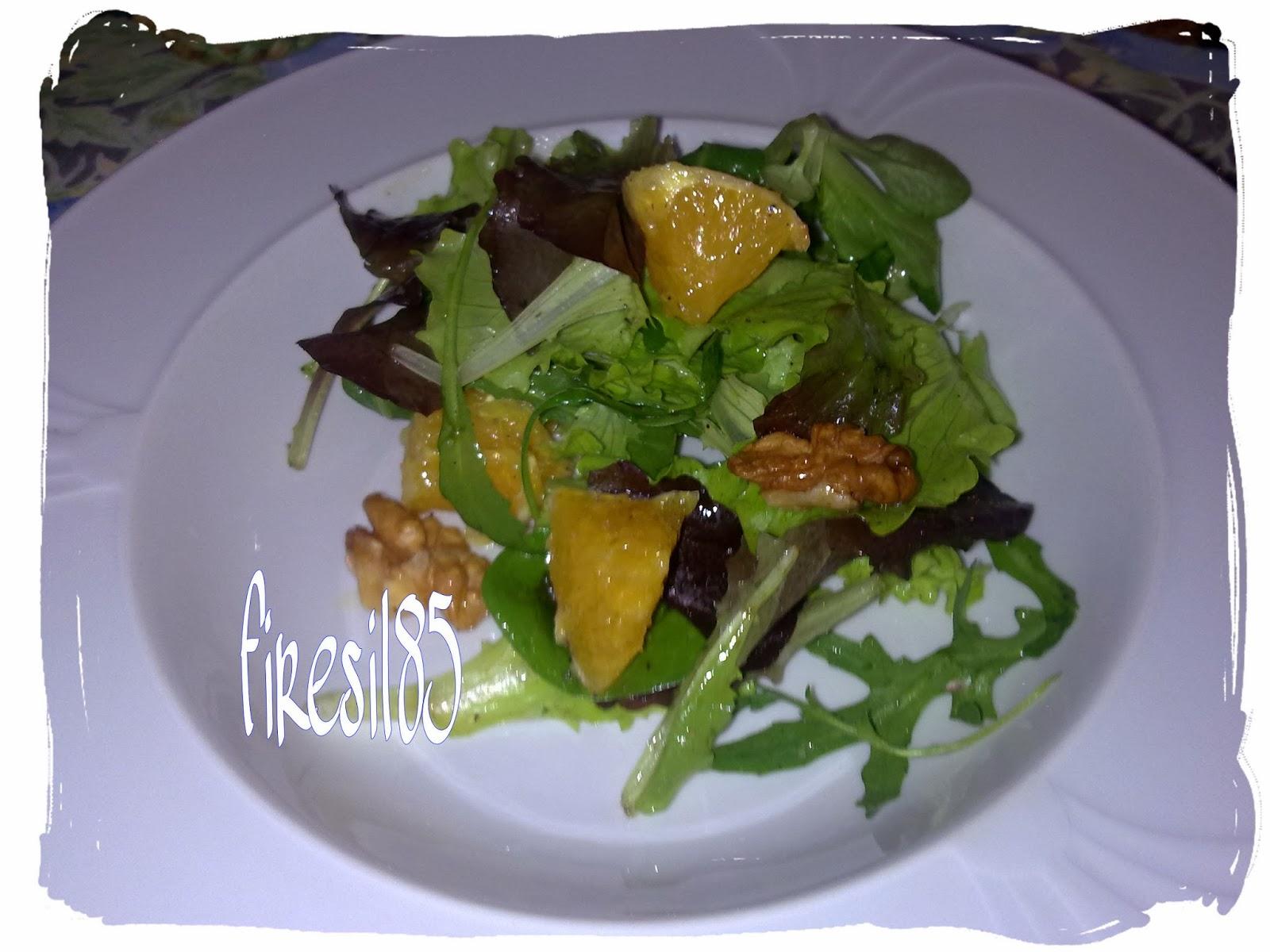 insalata mista arance e noci