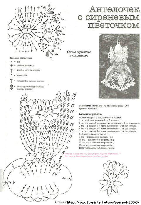Relas angelo all 39 uncinetto schema di addobbi per for Addobbi natalizi all uncinetto