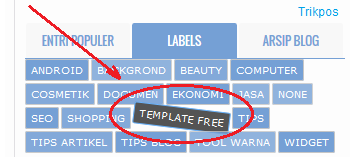 Modifikasi Widget Label Cloud